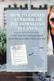 Ebook Template How To Create Your Stylish Ebook Template With Canva
