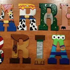 incredible painted wooden letter idea wood painting parlo buenacocina co within design 8 nursery for wall uk australium baby room christma front door
