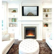 fake electric fireplace wall