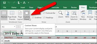 How To Use Custom Views In Excel To Save Your Workbook Settings