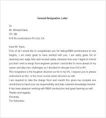 Official Resignation Letter