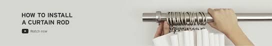 shop single curtain rods  modern rods  hardware  umbra
