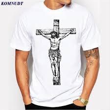 Mens Shirts With Cross Designs 2018 New Mens Jesus Christian T Shirt Mens Cross Design Tops