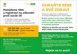 Registrace starších 16 let věku k očkování; Nove Call Centrum Pomaha Seniorum S Registraci Na Ockovani Totem Plzen