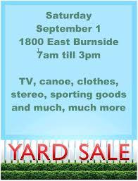 Yard Sale Flyer Template Word Garage Ideas Images Templ
