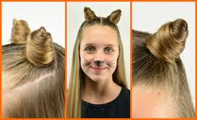 Cat Hair Style diy cat ears with your own hair halloween babesinhairland 2931 by stevesalt.us