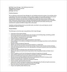 Project Manager Job Description Pictures In Gallery Project Manager