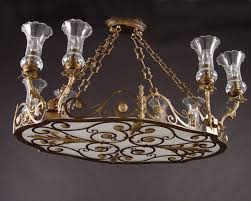 chandelier brass and glass