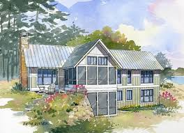 cottage floor plans with screened porch house