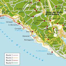 map cinque terre and la spezia liguria italy maps and