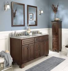 Bathroom Makeup Vanity Ideas Black Finish Stained Plastering Wall ...
