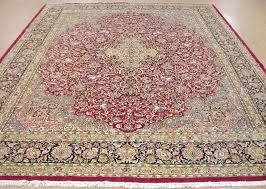 12 x 16 area rug x hand knotted wool magenta red navy oriental rug carpet 12