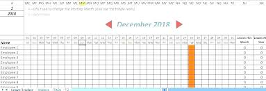 Employee Vacation Tracker Excel Template 2017