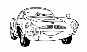 Small Picture Coloring Pages Finn Mcmissile Of Disney Movie Cars Coloring Page