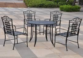 high back wrought iron patio chairs