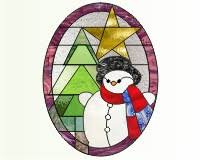 Christmas Stained Glass Patterns Adorable Snowman christmas tree and star stained glass pattern snowman