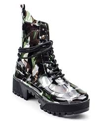 all gone camo dashing patent leather combat