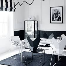 modern white living room furniture. Modern Dining Sets In Black And White Theme With Rectangular Table Made Of Living Room Furniture