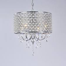 lightinthebox 4 light drum chandelier ambient light electroplated metal crystal 110 120v 220