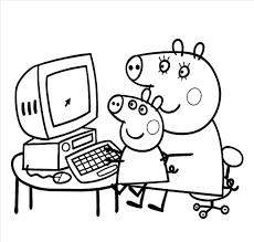 new peppa pig printable coloring pages gallery free coloring book pig coloring page 11