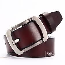 dwts men s belt leather belt men male genuine leather strap luxury pin buckle casual 4