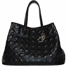 Christian Dior Black Quilted Tote - Polyvore & Christian Dior Black Quilted Tote Adamdwight.com