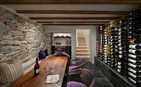wine cellar decor dining room contemporary with wooden kitchen carts d chandeliers