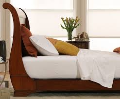 queen bed side view. Mahogany Sleigh Platform Bed- Side View Queen Bed