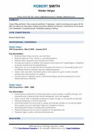 Welder Helper Job Description Welder Helper Resume Samples Qwikresume