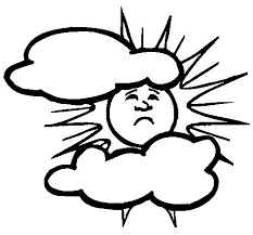 Small Picture Sun and clouds coloring page Coloringcrewcom