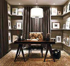home office ideas. Good Small Home Office Ideas With Calm Curtain Color Between Floating For  Home Office Ideas