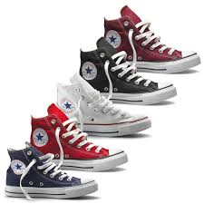 converse all star high tops. converse chuck taylor all star hi top canvas trainer boot maroon navy white red high tops