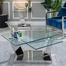 urban deco fusion glass and chrome