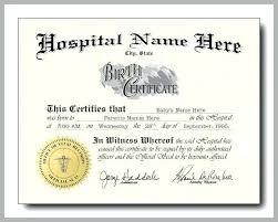 Fake Baby Birth Certificate Energycorridor Co