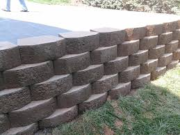 retaining wall allen block hardscape work alen block keystone