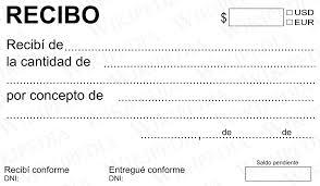Formato De Recibos Recibo Wikipedia La Enciclopedia Libre