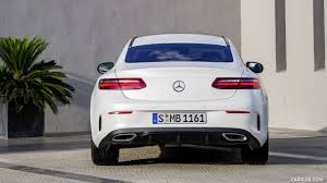 The newer model brings in some subtle changes in the aesthetics as well as the technology within. 2018 Mercedes Benz E Class Coupe Edition 1 Amg Line Night Package Color Designo Kashmir White Magno Rear Hd Wallpaper 56