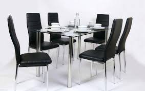 glass rectangle dining table medium images of white leather kitchen table set glass dining table set
