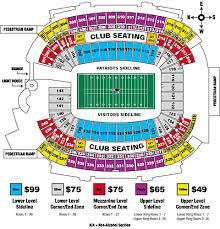 Gillette Seating Chart With Rows Gillette Stadium Seating Chart New England Patriots
