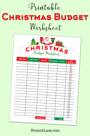 Keeping A Budget Worksheet Five Simple Tips For Staying On Track With A Christmas Budget