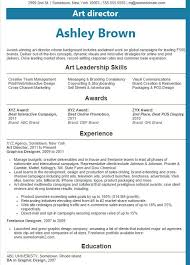 Resume Examples 2016 Art director resume examples 60 2