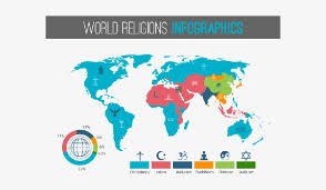 World Religion Pie Chart 2018 World Religions Infographic With Pie Chart And Map 5 Major
