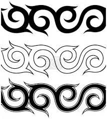Vektor černobílé Tetování Ornament Vzor Sada 144836369 Fotobanka