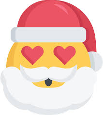 Icône Noël, emoji, amour, santa Gratuit de Santa Emojis