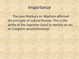 essay writing tips to marbury vs madison essay madison under the administrations of washington and his successor john adams only members of the ruling federalist party were allowed to be on the bench