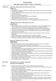 Regional Operations Manager Resume Samples Velvet Jobs