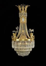 circa 1900 louis xvi style cut glass and gilt bronze mounted chandelier with wedgwood style porcelain