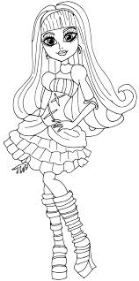 Small Picture Coloring Pages Free Printable Monster High Coloring Pages March