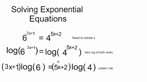 solving 2 sided exponential equations mp4