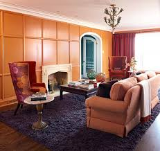 Burnt Orange And Brown Living Room Concept Awesome Design Ideas
